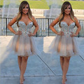 Luxury Rhinestones Short Cocktail Dresses Crystal Mini Backless robe de Cocktail Party Prom Dresses vestidos de coctel