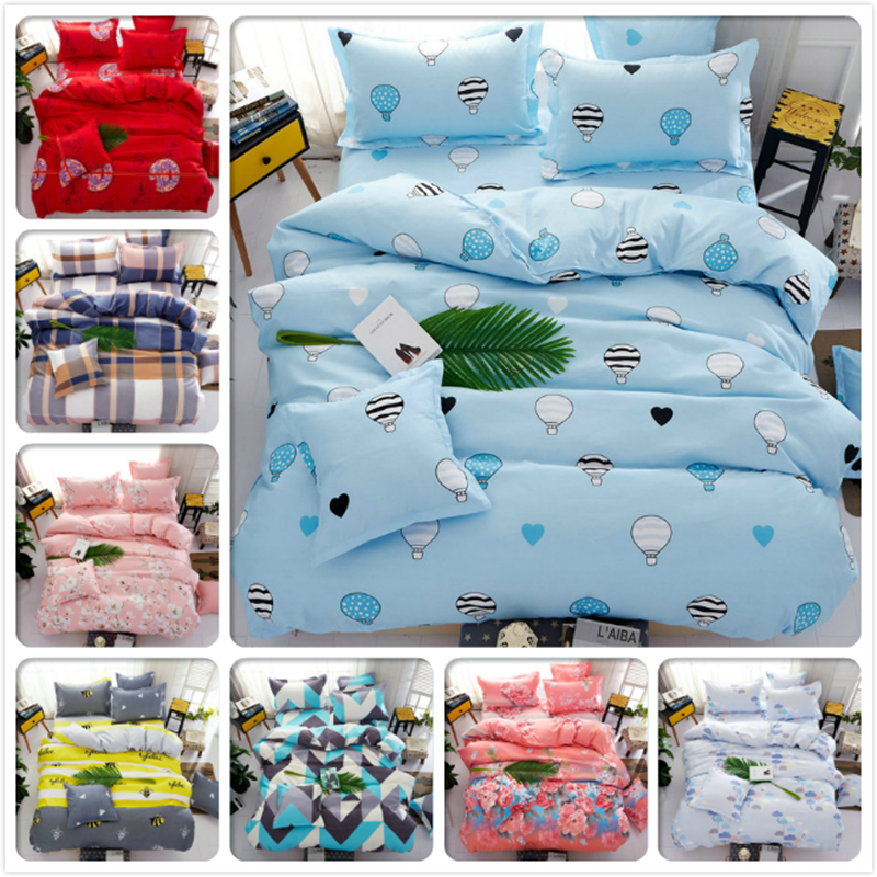 Kids Blue 3/4 Pcs Bedding Set Bedclothes 1.5m 1.8m 2.0m Flast Sheet Bed Linens King Queen Double Twin Size Duvet Cover Bedlinens Invigorating Blood Circulation And Stopping Pains Power Source