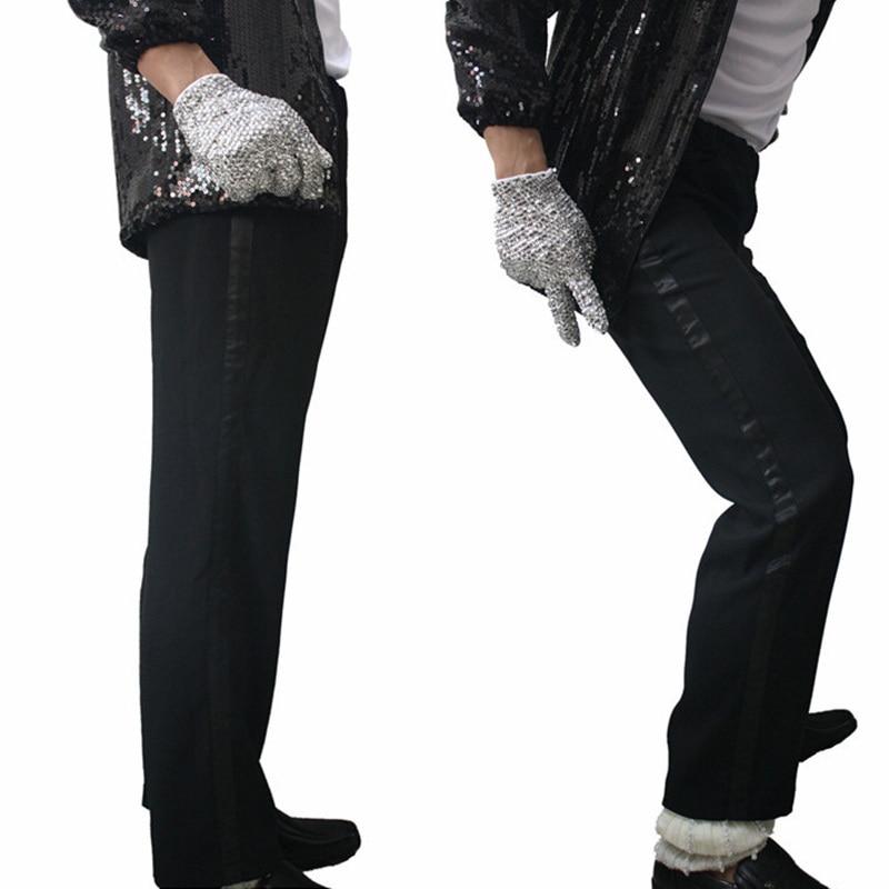 Mj Michael Jackson Hitam Billie Jean Penghibur Hitam Lurus Kasual Cropped Jeans Elastisitas Pergelangan Kaki Celana Panjang Ankle Length Pants Trousers Casualpants Pants Aliexpress