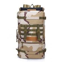 50L exterior subir bolso impermeable mochila táctica militar mochila multifuncional de gran capacidad de montaña mochila transpirable bolsas