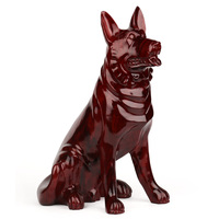 Резьба по дереву украшение резьба по дереву ремесла красного дерева собака домашнего интерьера большой 50 собаки зодиака подарок на день ро