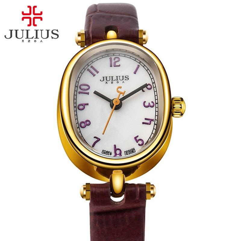 JULIUS Women Watches Rose Gold Brand Luxury Fashion Ladies Watch Classic Business Elegant 2017 New Korean Designer Reloj JA-860 mance ladies brand designer watches
