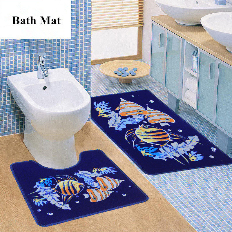 Somerset Home 100 Percent Cotton 2piece Chevron Bathroom Mat Set