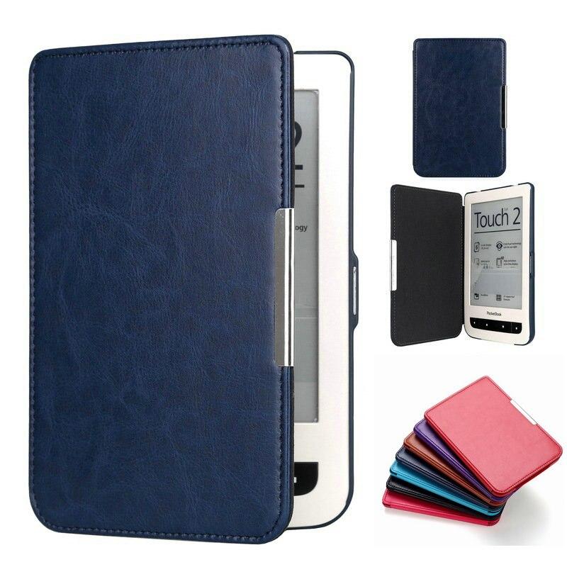 PU cuir Flip housse de protection pour pocketbook touch lux 3 rouge rubis pour pocketbook 614 plus pocketbook 615/625