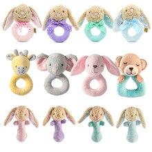 Купить с кэшбэком Soft Baby Toys 0-12 Months Appease Towel Soothe Sleeping Animal Blankie Towel Educative Baby Rattles Mobiles Stroller Toys