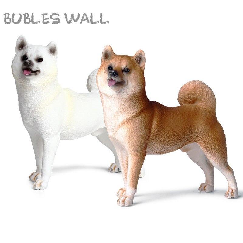 10CM Lifelike Japanese Shiba Inu Simulation Pet Animal Model Big Dog Action Figures High Quality Collection Toys For Kids Gift
