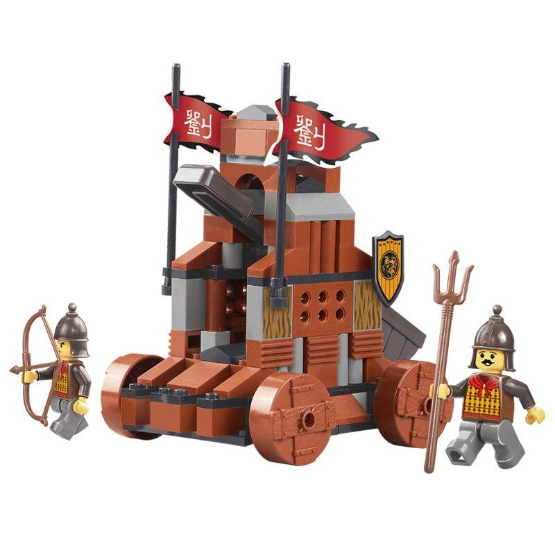 0261 131pcs Sanguo Catapult Constructor Model Kit Blocks Compatible LEGO Bricks Toys For Boys Girls Children Modeling