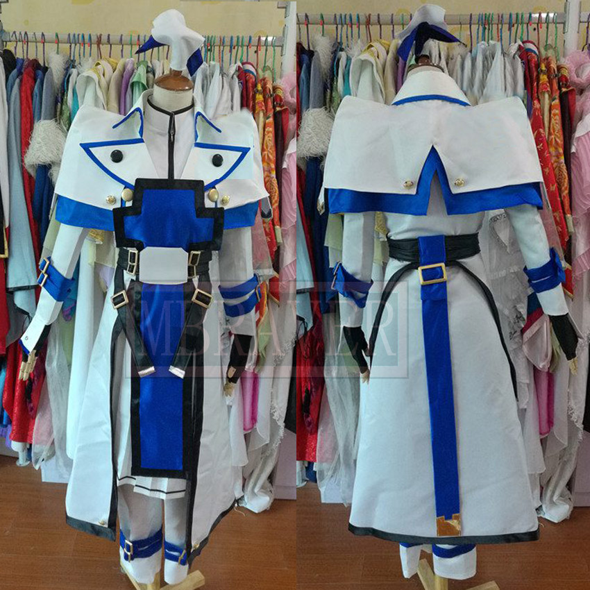 Guilty Gear Ky Kiske White Blue Cosplay Costume Custom Made Any Size