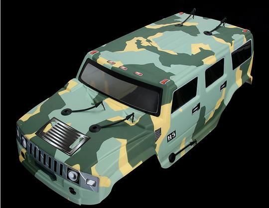 1/5 масштаб 4x4 BM тело только для 1/5 ROVAN большой Монстр RC грузовик - Цвет: Зеленый