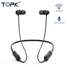 TOPK F10 Bluetooth наушники Магнитный Беспроводной наушники шейные наушники спортивные стерео гарнитура для телефона с микрофоном