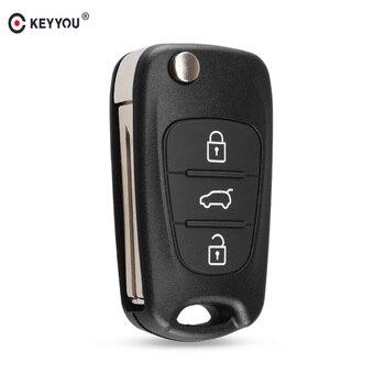 Chiave Telecomando per Hyundai I20 I30 IX35 I35 Accent Kia Picanto Sportage K5 3 Tasti Flip Folding Remote Key Case