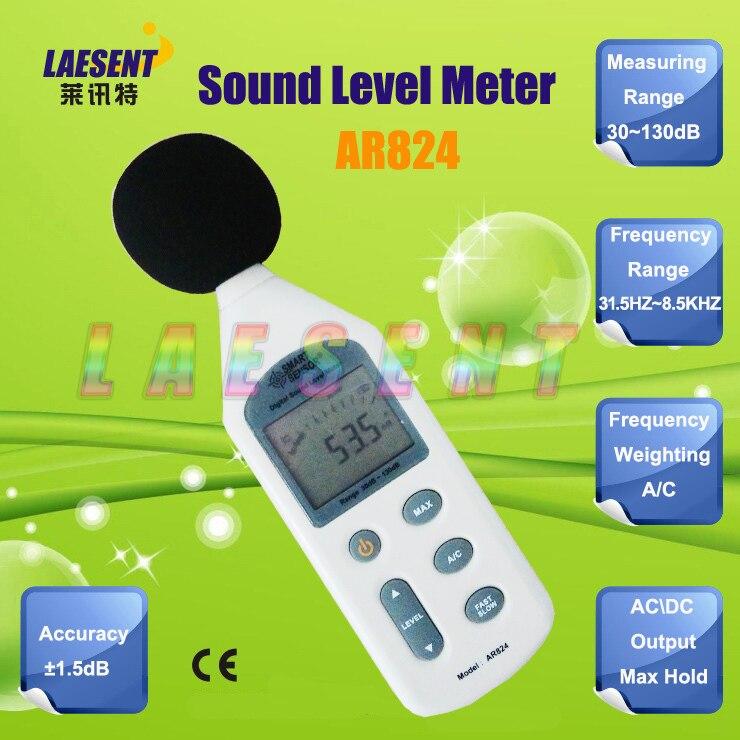 ФОТО AR824 Digital Sound Level Meter with Measuring Range 30 to 130dB