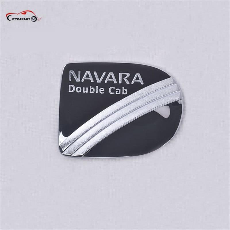 FIT Pour nissan navara frontier 2007 accessoires chrome carburant couvercle du réservoir en forme pour nissa navara d40 2006-2013 voiture style partie