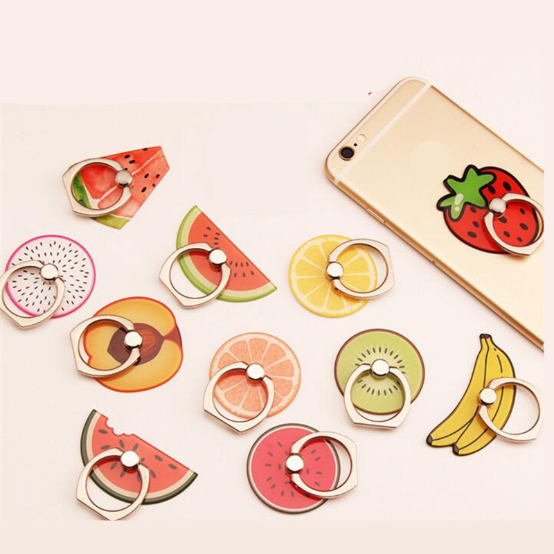 UVR 360 Degree Fruits Watermelon Finger Ring Smartphone Stand Holder Mobile Phone Holder Stand For iPhone iPad Huawei All Phone