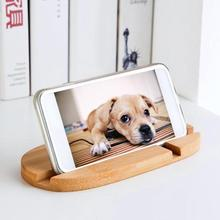 Creative phone Holder Desk Bamboo Wood Stand For iPhone 7 8