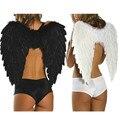 Sale barato negro white feather alas del ángel para fiesta de halloween danza props rendimiento accesorios MW02
