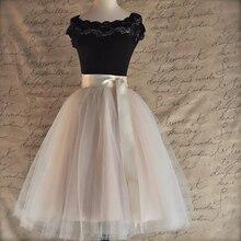 26 цветов 5 Слоистых 65 см до колена Тюль юбка пачка Женская юбка высокая талия плиссированная юбка косплей юбка эластичный пояс Faldas
