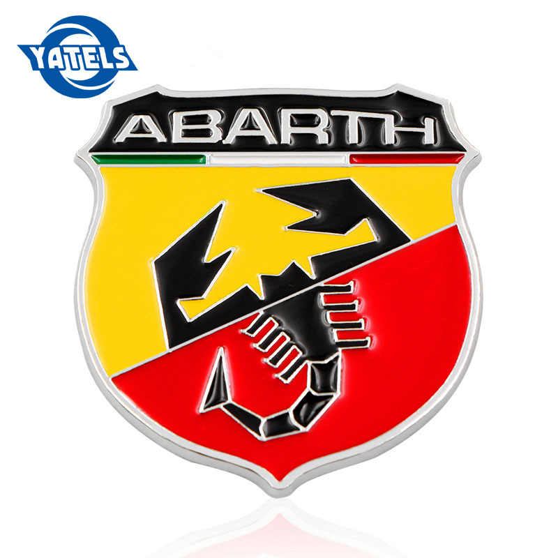 3D Metal Italy Abarth Scorpion Adhesive Badge Emblem Decal Sticker For Fiat Viaggio Abarth Punto 124 125 500 Car Styling