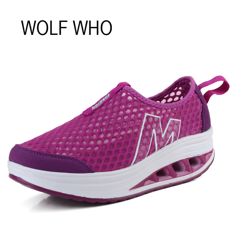 Wolf Who Summer Women Air Mesh Water Breathable Beach Shoes Platform Casual Ladies Krasovki Slipony Slip On Loafers Female x104 yiqitazer 2017 new summer slipony lofer womens shoes flats nice ladies dress pointed toe narrow casual shoes women loafers