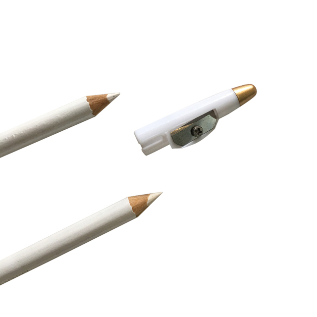 2pcs Microblading Eyebrow Pencil White Color Natural Long lasting Semi Permanent Makeup Tools Eyebrow Pencil Cosmetic Accessorie 2