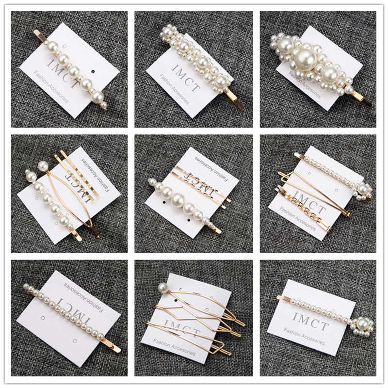 New Women Girls Acrylic Rectangular Water Hair Clips Tin Paper Hairpins Barrettes Fashion Hair Accessories Headband Wholesale