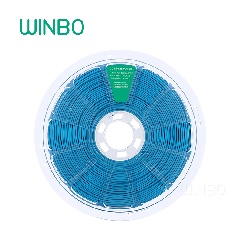 3D Printer PLA filament 3mm 3kg Blue Winbo 3D plastic filament Eco-friendly Food grade 3D printing material Free Shipping 3d printer pla filament 3mm 3kg yellow winbo 3d plastic filament eco friendly food grade 3d printing material free shipping