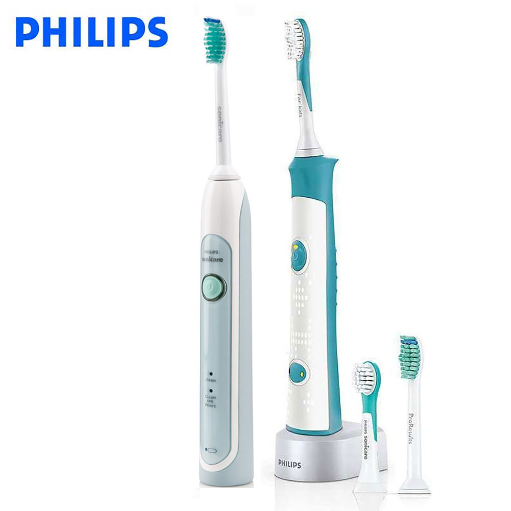 Philips Sonicare Family set HX6314 electric toothbrush waterproof for parent-child rechargeable with charging base цена и фото