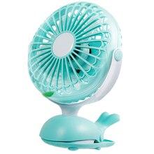 Clip Fan Portable Stroller Fans Cute Whale Design Rechargeable Usb Personal Desk Fan Adjustable Tilt Whisper Quiet Operation