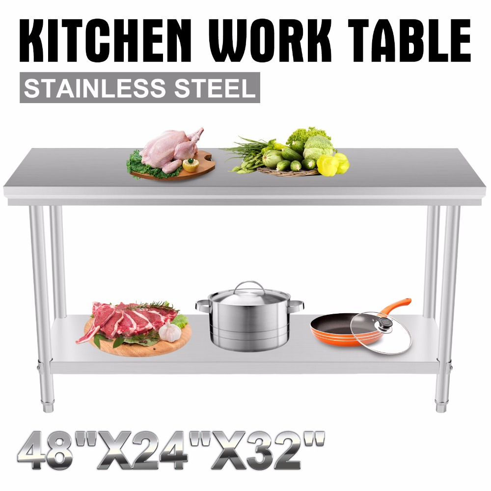 Stainless Steel Commercial Kitchen Work Food Prep Table 24