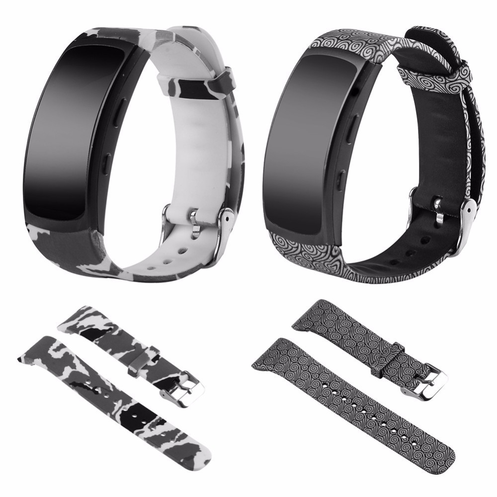 Silicone Watch Strap Replacement Watch Band Wristband For Samsung Gear Fit 2 SM-R360 / R365 S/L Watch Accessories