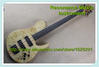 100% Real Pictures 5 Strings Bass Guitars Neck Through With Mini Toggle