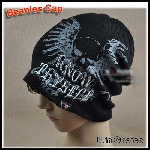 15pcs lot Fashionable Men s Beanies Hat Skull Caps Winter hats with skull  head design by DHL EMS- Free Shipping 0bb2c5485eed
