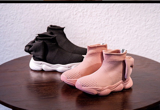 Children casual shoes  female sneaker child high elastic foot wrapping  baby girl kids knitted socks shoes baby shoes