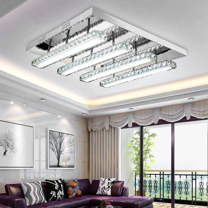 Deckenlampemodern Потолочные светильники кристалл Китайский LED Потолочные светильники Гостиная Lampara де TECHO Винтаж Освещение приспособление Lampen