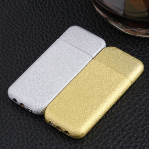 Image 4 - Ultra Thin Compact Jet Butane Lighter Grinding Wheel Lighter Inflated Gas Frosted Mini Lighter Bar Metal NO GAS