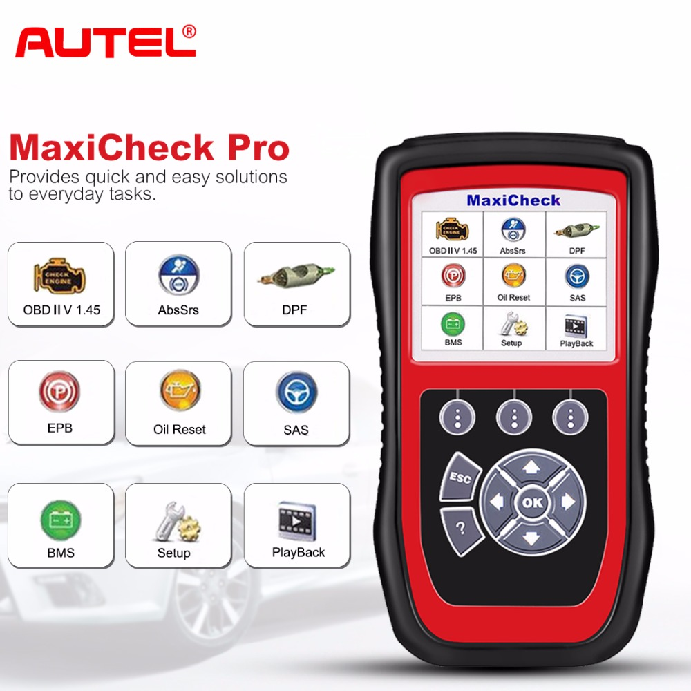 Autel MaxiCheck Pro OBD2 Car Diagnostic Tool EPB/ABS/SRS/SAS/Airbag/Oil Service Reset/BMS/DPF Special function Auto Scanner nexas nd601 for bmw mini multi sysstem diagnostic scanner obd code reader abs srs airbag dpf battery registration oil service