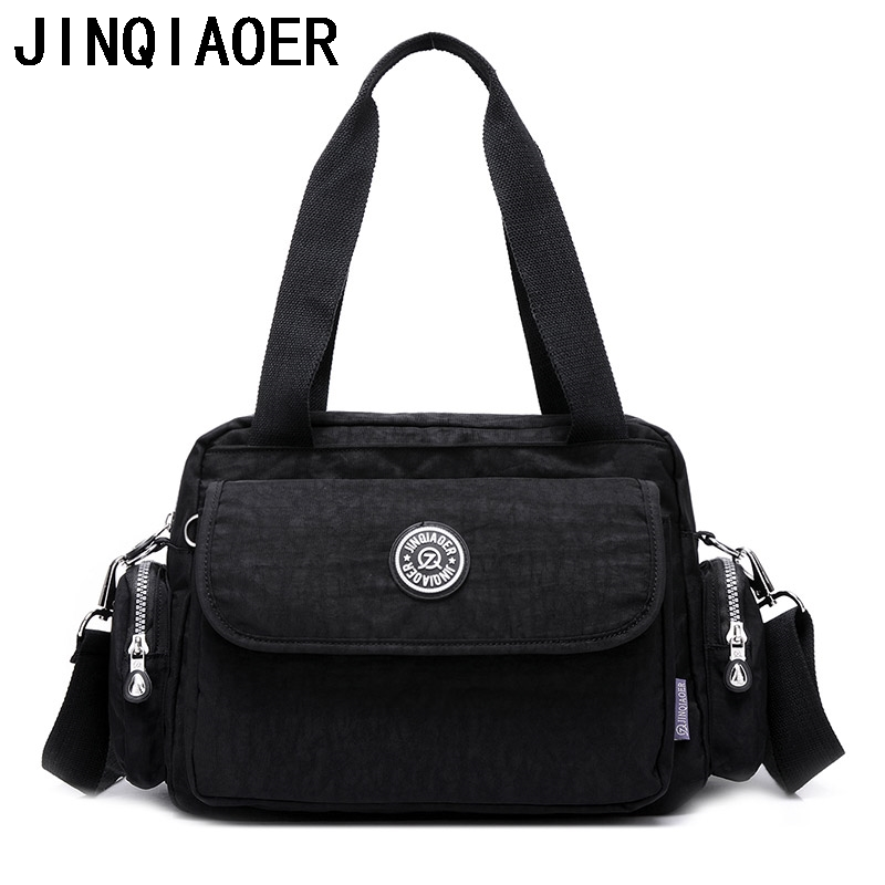 Nylon Women Messenger Bags Ladies Shoulder Bags Female Bolsa Feminina Crossbody Bags Bolsos Mujer Women's Handbags Bolsos Mujer flower princess crossbody bags for women embroidered nylon shoulder bags schouder tassen dames ladies messenger bolsos mujer