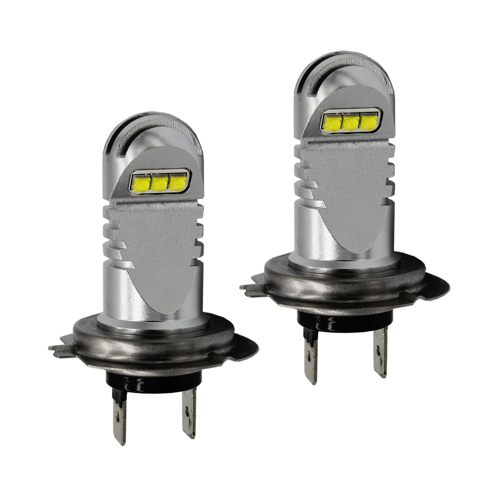 2x F1 30W Car Signal Light H7 LED Fog Bulb Daytime Running Light DRL Beam Driving Fog Lamp 12V 24V Amber,DRL led headlights