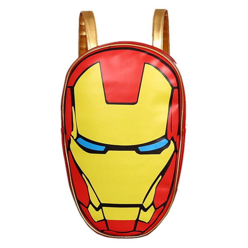 Marvel les Avengers 3D Iron Man sac à dos ordinateur portable unisexe sacs d'école sacs à dos Mochilas escolar PU sac à dos en cuir sac d'ordinateur