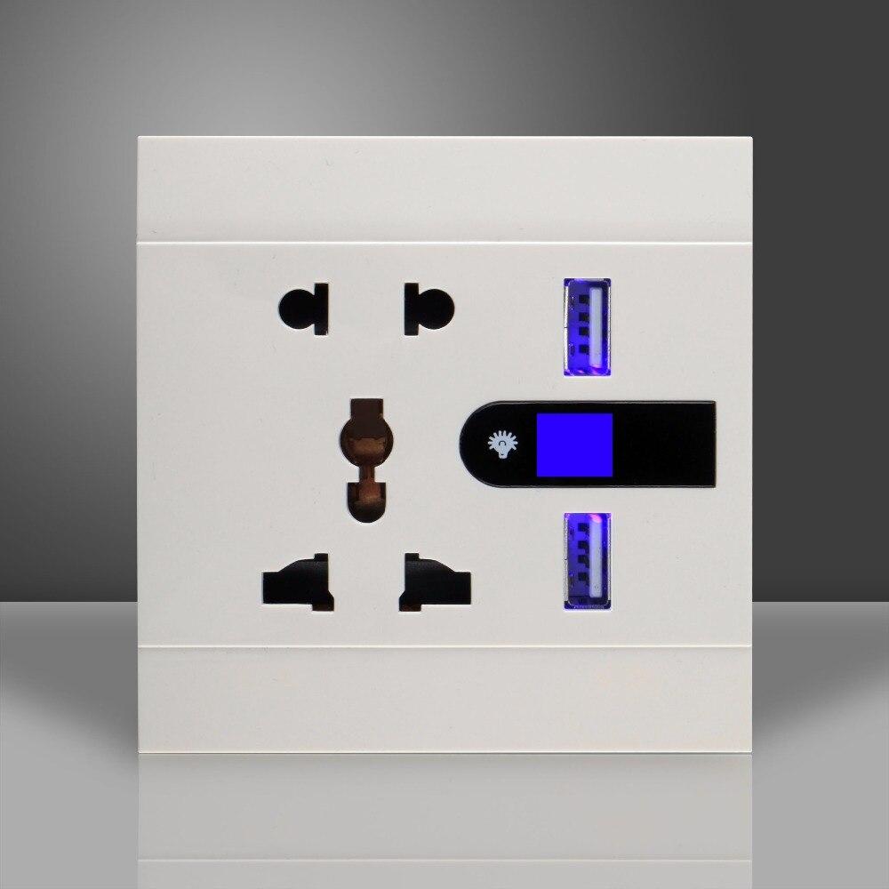 Chargeur universel de prise USB de mur de 5pin avec la veilleuseChargeur universel de prise USB de mur de 5pin avec la veilleuse