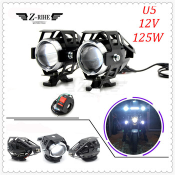 Motorcycle LED Headlight Driving Spot Head Lamp Fog Light for KTM Duke RC 200 390 Enduro Supermoto SMC Adventure 690 950 990 image