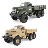Remote Control Car RC 1:16 Telecar Kids Toys Realistic Children Gifts Game Tracked Off Road Army Truck Crawler Rechargeable Outd