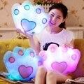 La Música pata Pata de Oso Almohada Luminosa Colorida Noctilucentes Luz LED Juguetes de Peluche Cojín Cojín Amantes Romántico Almohada Música