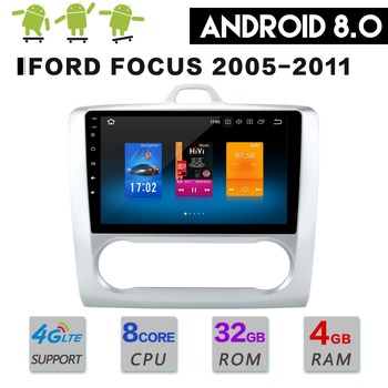 The Newest Android8.0 Octa 8 Core 4GB RAM 32GB ROM Car DVD Player GPS Navi For Ford Focus 2005-2011 Headunit Autoradio Stereo image