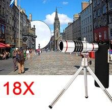 18x Zoom Optique Télescope Téléobjectif Pour Samsung Galaxy Note 2 3 4 5 S6 S7 S8 BORD Cas Téléphone Lentilles Kit Avec Clips trépied