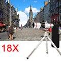 18x zoom óptico telescopio lente telefoto teleobjetivo para samsung galaxy note 2 3 4 5 kit de lentes de teléfono iphone 6 6 s casos con clips de trípode