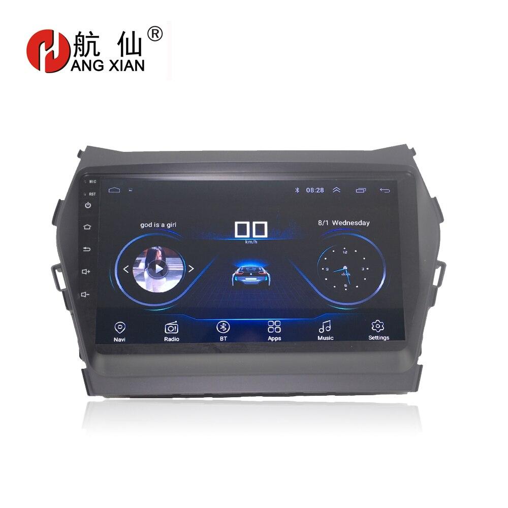 HANGXIAN 9 Quadcore Android 8.1 Car radio for Hyundai IX45 SANTA FE 2013 car dvd player GPS navigation with 1G RAM 16G ROM lsqstar 7 android4 1 capacitive screen car dvd player w gps wifi swc aux for hyundai ix45 santa fe