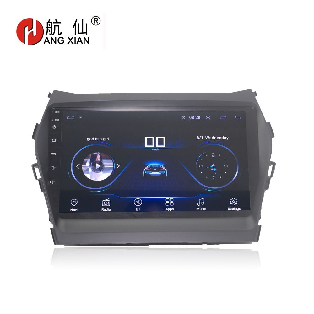 HANGXIAN 9 Quadcore Android 8.1 Car radio for Hyundai IX45 SANTA FE 2013 car dvd player GPS navigation with 1G RAM 16G ROM