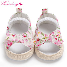 Girl Sandals Baby Shoes Print Bow Netting Baby Girl Sandals Beach Baby Girl Shoes Cotton Soft Baby Sandals
