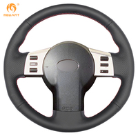 Mewant Black Artificial Leather Car Steering Wheel Cover For Infiniti FX35 FX45 2003 2007 Nissan 350Z